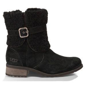 EUC UGG Blayre II Suede Black Boots Size 7.5